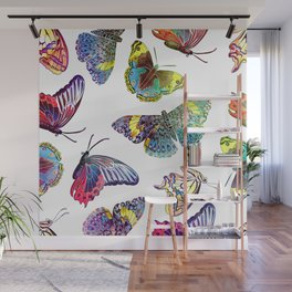 Butterfly Obsession in Blues Wall Mural
