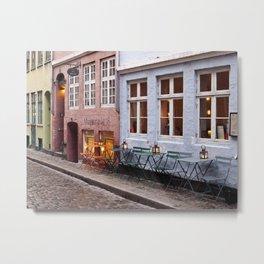 Copenhagen Sidewalk Cafe Metal Print