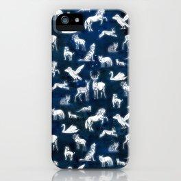 Patronus pattern iPhone Case