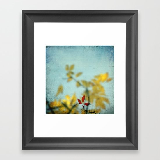 When Red meets Yellow Framed Art Print