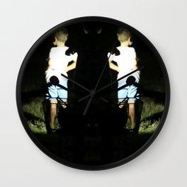 low light summer scene Wall Clock