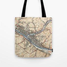 Vintage Map of Charleston West Virginia (1931) Tote Bag