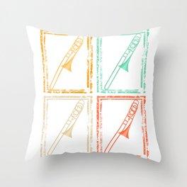 Trombone Gift Musician Throw Pillow