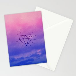 Diamond Sky Stationery Cards