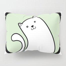 Little White Derpy Kitty Pillow Sham