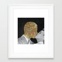 kiss Framed Art Prints featuring Gold Digging by Eugenia Loli