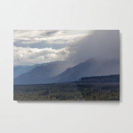 Mountains Emerging Metal Print