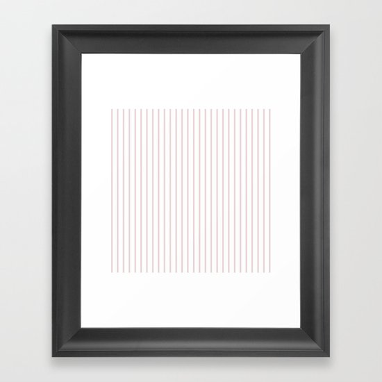 Alice Pink Pinstripe on White by honorandobey