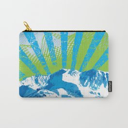 Mt. Alyeska Ski Rise by Crow Creek Cool Carry-All Pouch