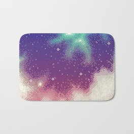 Rainbow Nebula (8bit) Bath Mat