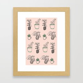 Potted plants Framed Art Print