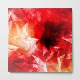 Colorful geometric triangle diamond Metal Print