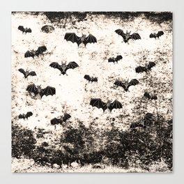 Vintage Halloween Bat pattern Canvas Print