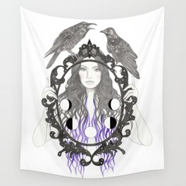 Crow Moon Wall Tapestry