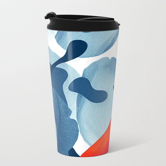 Black and blue Metal Travel Mug