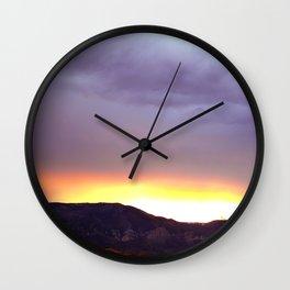 Wyoming Beartooth Mountain Sunset Wall Clock