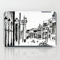 cityscape iPad Cases featuring CITYSCAPE by hawwa a