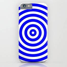 Circles (Blue & White Pattern) iPhone Case