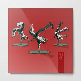 Little capoeira plastic dudes Metal Print