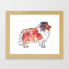 Toby - Dog Watercolour Framed Art Print