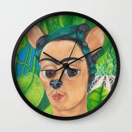 Chihuahua Kahlo Wall Clock