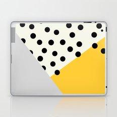 Mod Dots - yellow and Gray Laptop & iPad Skin