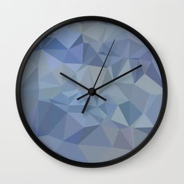 Light Steel Blue Abstract Low Polygon Background Wall Clock