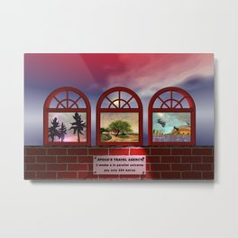 come to my travel agency Metal Print