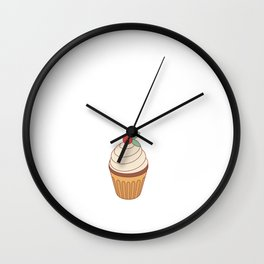 Cupcakes are Love With Icing on Top T-Shirt Wall Clock