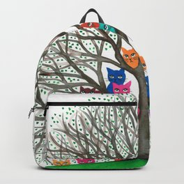 Connecticut Whimsical Cats in Tree Backpack