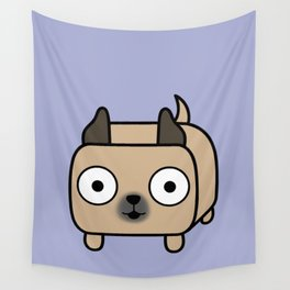 Pitbull Loaf - Fawn Pit Bull with Cropped Ears Wall Tapestry