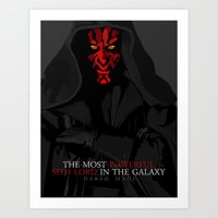 sith Art Prints featuring sith lord by shizoy