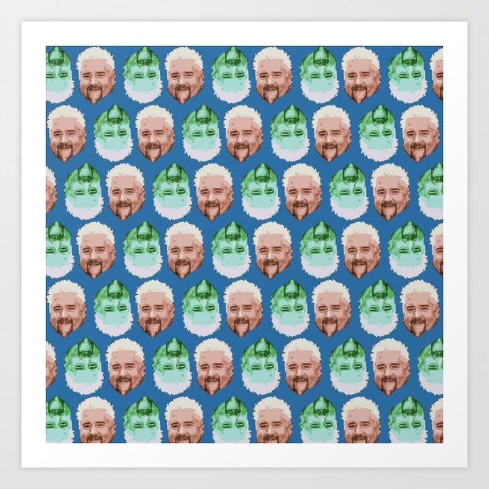 Guy Fieri Repeated Pattern Kunstdrucke