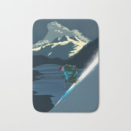 Retro ski Bath Mat
