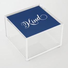 Be Kind Blue Inspirational Acrylic Box