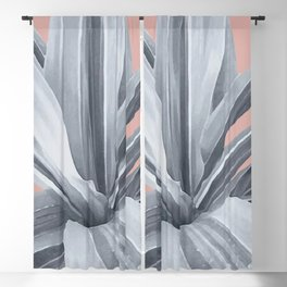 Grey Leaves. Tropical pink Blackout Curtain