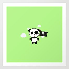 Panda Pirate with Flag T-Shirt for all Ages Da19o Art Print