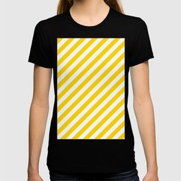 Diagonal Stripes (Gold/White) T-shirt