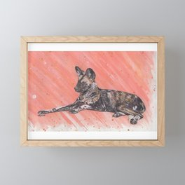 Painted Dog / African Hunting Dog Framed Mini Art Print