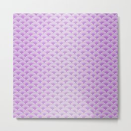 Purple Magic Mermaid Scales Metal Print