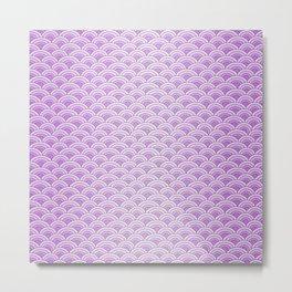 Purple Magic Mermaid Scales Metal Print