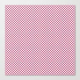 Raspberry Polka Dots Canvas Print