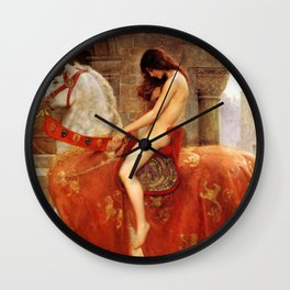 Lady Godiva By John Collier Wall Clock