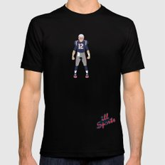 Pats - Tom Brady Mens Fitted Tee Black 2X-LARGE