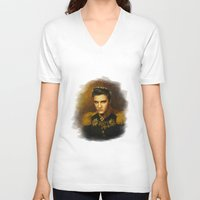 replaceface V-neck T-shirts featuring Elvis Presley - replaceface by replaceface