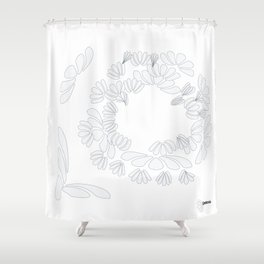 BONE: the universe has your back Shower Curtain