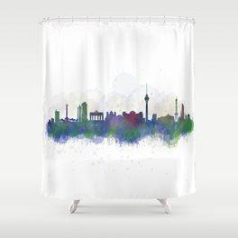 Berlin City Skyline HQ3 Shower Curtain