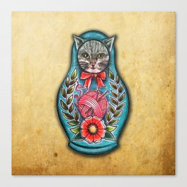 Russian cat doll Canvas Print