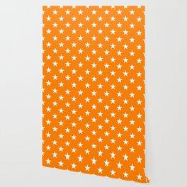 Stars (White/Orange) Wallpaper