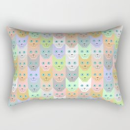 Pastel cats Rectangular Pillow